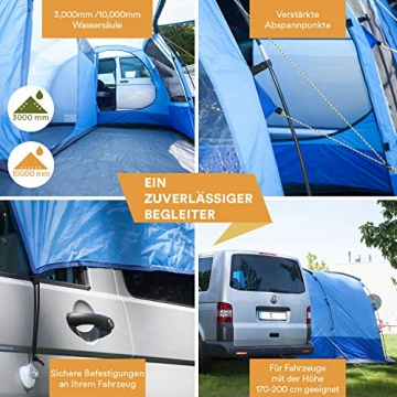 Skandika Aaarhus Travel Busvorzelt 2 Personen Familienzelt (3000mm Wassersäule) - 3