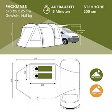 Skandika Aaarhus Travel Busvorzelt 2 Personen Familienzelt (3000mm Wassersäule) - 8