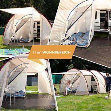 Skandika Camper Tramp Bus-Vorzelt, freistehend mit Schlafkabine für 2 Personen, 210cm Stehhöhe - 3
