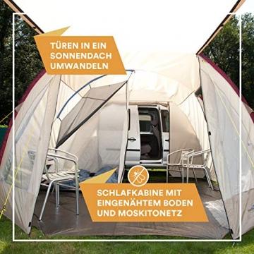 Skandika Camper Tramp Bus-Vorzelt, freistehend mit Schlafkabine für 2 Personen, 210cm Stehhöhe - 4