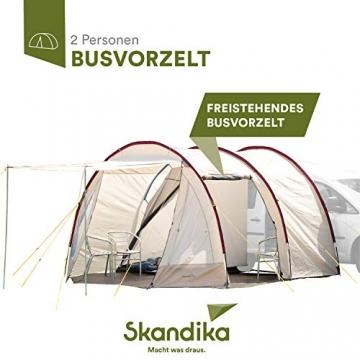 Skandika Camper Tramp Bus-Vorzelt, freistehend mit Schlafkabine für 2 Personen, 210cm Stehhöhe - 1