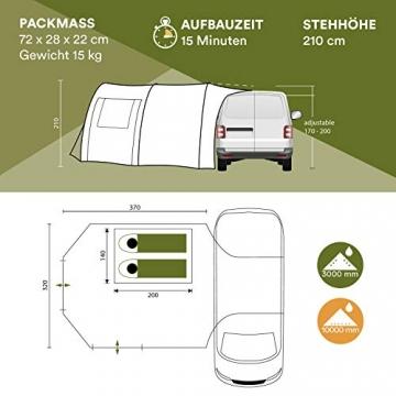 Skandika Camper Tramp Bus-Vorzelt, freistehend mit Schlafkabine für 2 Personen, 210cm Stehhöhe - 5
