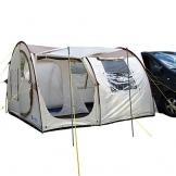 skandika Esbjerg Travel freistehendes Busvorzelt, mit fest eingenähtem Zeltboden und Schlafkabine für 2 Personen - 1