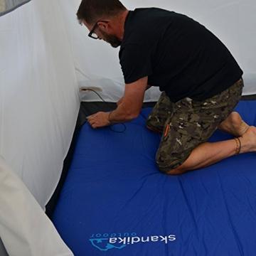 skandika Esbjerg Travel freistehendes Busvorzelt, mit fest eingenähtem Zeltboden und Schlafkabine für 2 Personen - 3