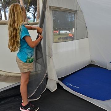 skandika Esbjerg Travel freistehendes Busvorzelt, mit fest eingenähtem Zeltboden und Schlafkabine für 2 Personen - 4