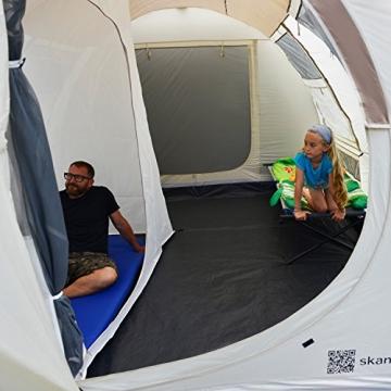 skandika Esbjerg Travel freistehendes Busvorzelt, mit fest eingenähtem Zeltboden und Schlafkabine für 2 Personen - 5
