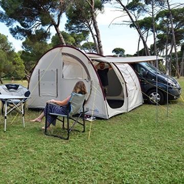 skandika Esbjerg Travel freistehendes Busvorzelt, mit fest eingenähtem Zeltboden und Schlafkabine für 2 Personen - 7