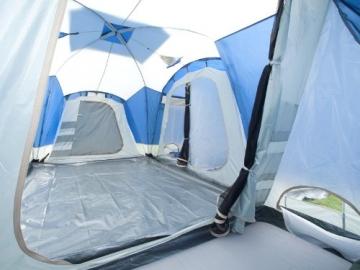 skandika Nimbus 8-Personen Familien/Gruppenzelt, 3 Schlafkabinen, Frontwand verstellbar, 200 cm Stehhöhe - 4
