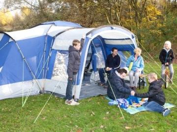 skandika Nimbus 8-Personen Familien/Gruppenzelt, 3 Schlafkabinen, Frontwand verstellbar, 200 cm Stehhöhe - 6