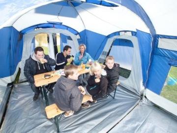 skandika Nimbus 8-Personen Familien/Gruppenzelt, 3 Schlafkabinen, Frontwand verstellbar, 200 cm Stehhöhe - 7