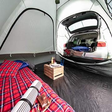 skandika Pitea SUV Zelt für 4 Personen, Fahrzeug/Auto Vorzelt, freistehend 300x300cm mit 220cm Höhe & eingenähtem Zeltboden - 2