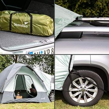 skandika Pitea SUV Zelt für 4 Personen, Fahrzeug/Auto Vorzelt, freistehend 300x300cm mit 220cm Höhe & eingenähtem Zeltboden - 4
