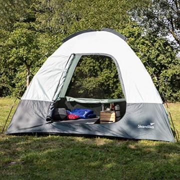 skandika Pitea SUV Zelt für 4 Personen, Fahrzeug/Auto Vorzelt, freistehend 300x300cm mit 220cm Höhe & eingenähtem Zeltboden - 7