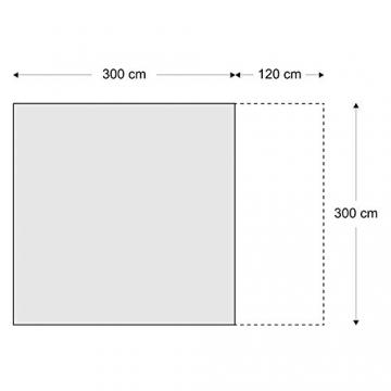 skandika Pitea SUV Zelt für 4 Personen, Fahrzeug/Auto Vorzelt, freistehend 300x300cm mit 220cm Höhe & eingenähtem Zeltboden - 9
