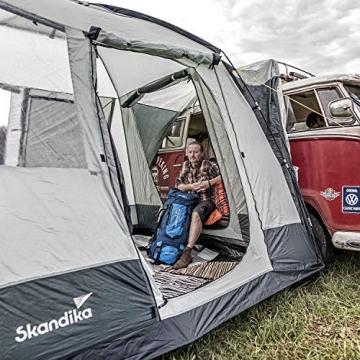 skandika Pitea Van Zelt für 4 Personen, Fahrzeug/Auto Vorzelt mit 4 Eingängen, Moskitonetz, freistehend, 300x300cm mit 225cm Höhe & eingenähtem Zeltboden - 3