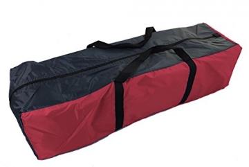 Spetebo Camping Zelt für 4 Personen - Pyramidenzelt in rot / 350 x 300 cm - Familienzelt Tipi Rundzelt - 2