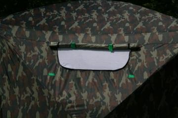 UHATEX Angelzelt 2 Mann, Karpfenzelt, Wetterschutzzelt ohne Boden, Camouflage, in 30 Sekunden allein auf- und abgebaut - 7