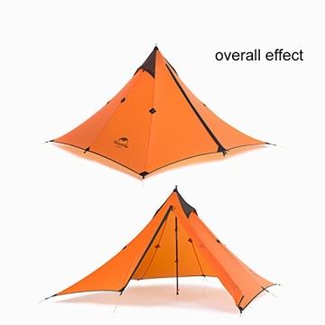 """Ultraleichtes """"Naturehike""""-Pyramidenzelt für 3Jahreszeiten, zum Camping, Wandern und Bergsteigen, the tent set - 3"""