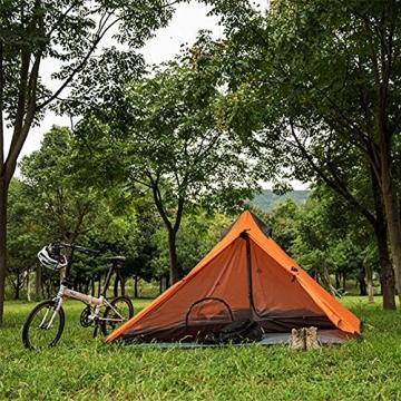 """Ultraleichtes """"Naturehike""""-Pyramidenzelt für 3Jahreszeiten, zum Camping, Wandern und Bergsteigen, the tent set - 5"""