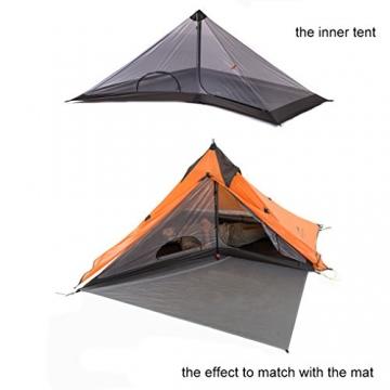 """Ultraleichtes """"Naturehike""""-Pyramidenzelt für 3Jahreszeiten, zum Camping, Wandern und Bergsteigen, the tent set - 7"""