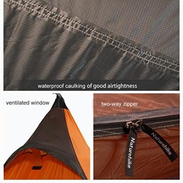 """Ultraleichtes """"Naturehike""""-Pyramidenzelt für 3Jahreszeiten, zum Camping, Wandern und Bergsteigen, the tent set - 8"""