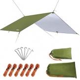 Unigear Zeltplane, Tarp für Hängematte, wasserdicht mit Ösen + 6 Erdnägel+ 6 Seilen, Regenschutz Sonnenschutz für Ourdoor Camping MEHRWEG - 1