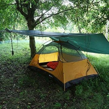 V VONTOX Zeltplane Wasserdicht, 3x3m-PU3000mm Regen Fliegen Sonnenschutz für Zelt, Anti-UV, Leichte Tragbare für Camping, Reisen, Hängematten Zelt Tarp - 2
