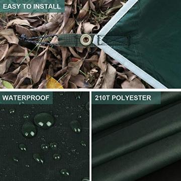 V VONTOX Zeltplane Wasserdicht, 3x3m-PU3000mm Regen Fliegen Sonnenschutz für Zelt, Anti-UV, Leichte Tragbare für Camping, Reisen, Hängematten Zelt Tarp - 5