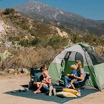 V VONTOX Zeltplane Wasserdicht, 3x3m-PU3000mm Regen Fliegen Sonnenschutz für Zelt, Anti-UV, Leichte Tragbare für Camping, Reisen, Hängematten Zelt Tarp - 6