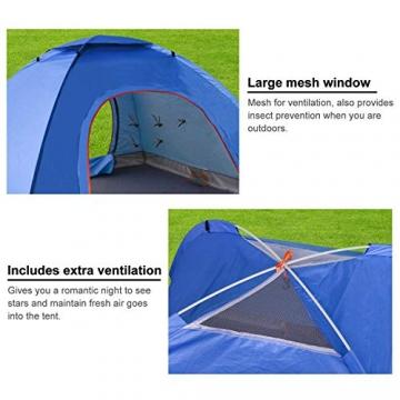 XDDIAS Pop up Zelt 200cm x 200cm x 150cm, Tragbares Strand-Zelt mit LSF50+ UV-Schutz für Outdoor Sport Camping Wandern Reisen Strand 2-4 Person - 3