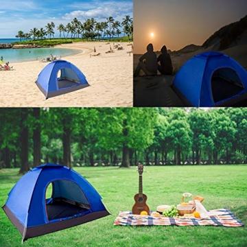 XDDIAS Pop up Zelt 200cm x 200cm x 150cm, Tragbares Strand-Zelt mit LSF50+ UV-Schutz für Outdoor Sport Camping Wandern Reisen Strand 2-4 Person - 4