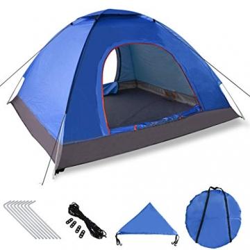 XDDIAS Pop up Zelt 200cm x 200cm x 150cm, Tragbares Strand-Zelt mit LSF50+ UV-Schutz für Outdoor Sport Camping Wandern Reisen Strand 2-4 Person - 1