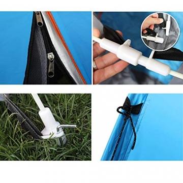 XDDIAS Pop up Zelt 200cm x 200cm x 150cm, Tragbares Strand-Zelt mit LSF50+ UV-Schutz für Outdoor Sport Camping Wandern Reisen Strand 2-4 Person - 5