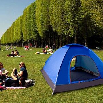XDDIAS Pop up Zelt 200cm x 200cm x 150cm, Tragbares Strand-Zelt mit LSF50+ UV-Schutz für Outdoor Sport Camping Wandern Reisen Strand 2-4 Person - 7
