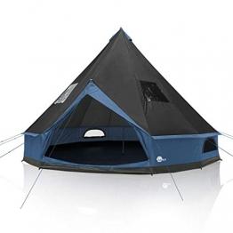 your GEAR Zelt Ravello 400 Tipizelt für 4-6 Personen Familienzelt UV 50+ Schutz Stehhöhe Bodenwanne Wasserdicht 5000 mm Blau Grau - 1