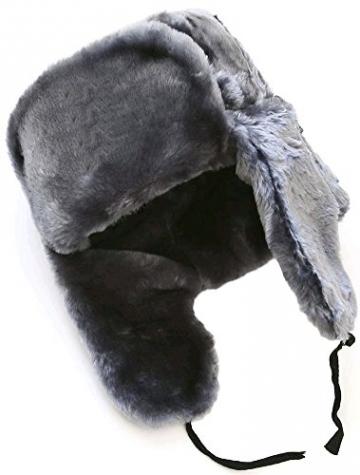 Cucuba® RUSSISCHE FELLMÜTZE SCHAPKA USCHANKA WINTERMÜTZE MILITÄRMÜTZE DER RUSSISCHE Marine MILITÄR GRÖSSEN VERFÜGBAR 56-57-58-59-60 (EU) - Geschenkidee (62 Size XXL (EU)) - 2