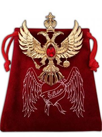 Eillwin Edle russische Anstecknadel Elite Goldfarbe Sammlerstück & Gedenkbrosche Pin - 3