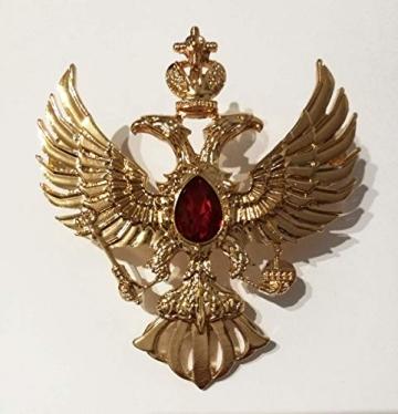 Eillwin Edle russische Anstecknadel Elite Goldfarbe Sammlerstück & Gedenkbrosche Pin - 4