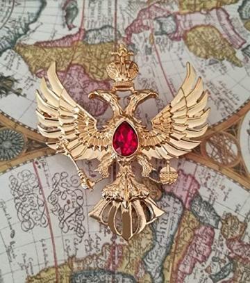 Eillwin Edle russische Anstecknadel Elite Goldfarbe Sammlerstück & Gedenkbrosche Pin - 6