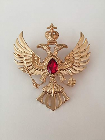 Eillwin Edle russische Anstecknadel Elite Goldfarbe Sammlerstück & Gedenkbrosche Pin - 7