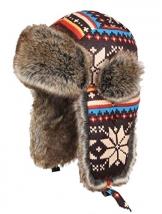 Insun Wintermütze Fliegermütze Gestrickt Pilotenmütze Uschanka Russenmütze Ohrenschützer für Erwachsene und Kinder Mehrfarbig 3 M Hut Umfang 54cm - 1
