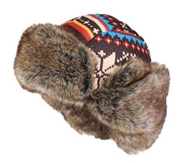 Insun Wintermütze Fliegermütze Gestrickt Pilotenmütze Uschanka Russenmütze Ohrenschützer für Erwachsene und Kinder Mehrfarbig 3 M Hut Umfang 54cm - 5