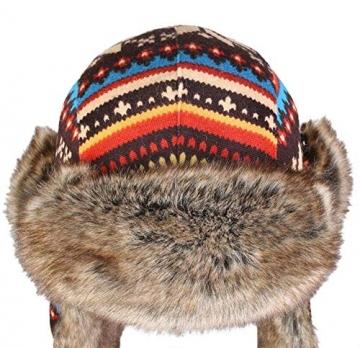 Insun Wintermütze Fliegermütze Gestrickt Pilotenmütze Uschanka Russenmütze Ohrenschützer für Erwachsene und Kinder Mehrfarbig 3 M Hut Umfang 54cm - 6