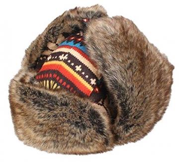 Insun Wintermütze Fliegermütze Gestrickt Pilotenmütze Uschanka Russenmütze Ohrenschützer für Erwachsene und Kinder Mehrfarbig 3 M Hut Umfang 54cm - 7