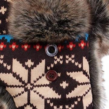 Insun Wintermütze Fliegermütze Gestrickt Pilotenmütze Uschanka Russenmütze Ohrenschützer für Erwachsene und Kinder Mehrfarbig 3 M Hut Umfang 54cm - 8