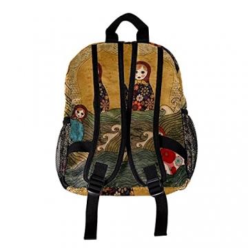 LXYDD Tragen Sie einen stilvollen Rucksack russische puppe matrjoschka - 2