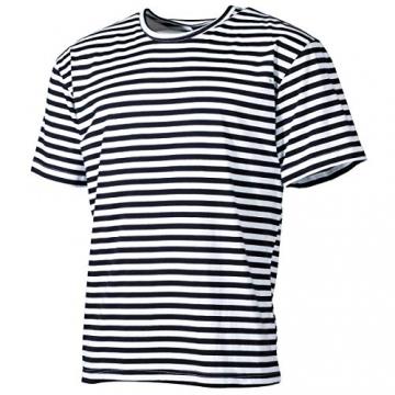 MFH Russisches Marine T-Shirt halbarm (Blau-Weiß) (M) - 1
