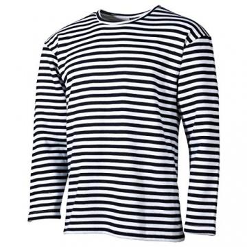 MFH Russisches Marine T-Shirt Langarm Winter (Blau-Weiß/XXL) - 1
