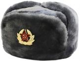 SIBERHAT Sibirhat Ushanka-Hut, Russisches Fell, Militär, Grau, 62/XL - 1