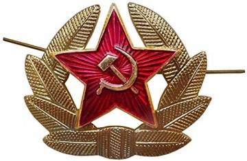 SIBERHAT Sibirhat Ushanka-Hut, Russisches Fell, Militär, Grau, 62/XL - 5